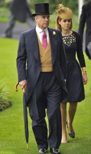 Принц Эндрю и его старшая дочь принцесса Беатрис