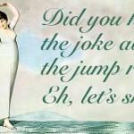 Ты слышал шутку про скакалку? Э, давай пропустим ее = Давай на ней попрыгаем. to skip - прыгать на скакалке Скакалка может называться еще skipping rope. to skip smth- пропускать