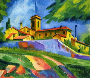 Max Pechstein. Italian Church: Covent of San Gimignano, 1913.