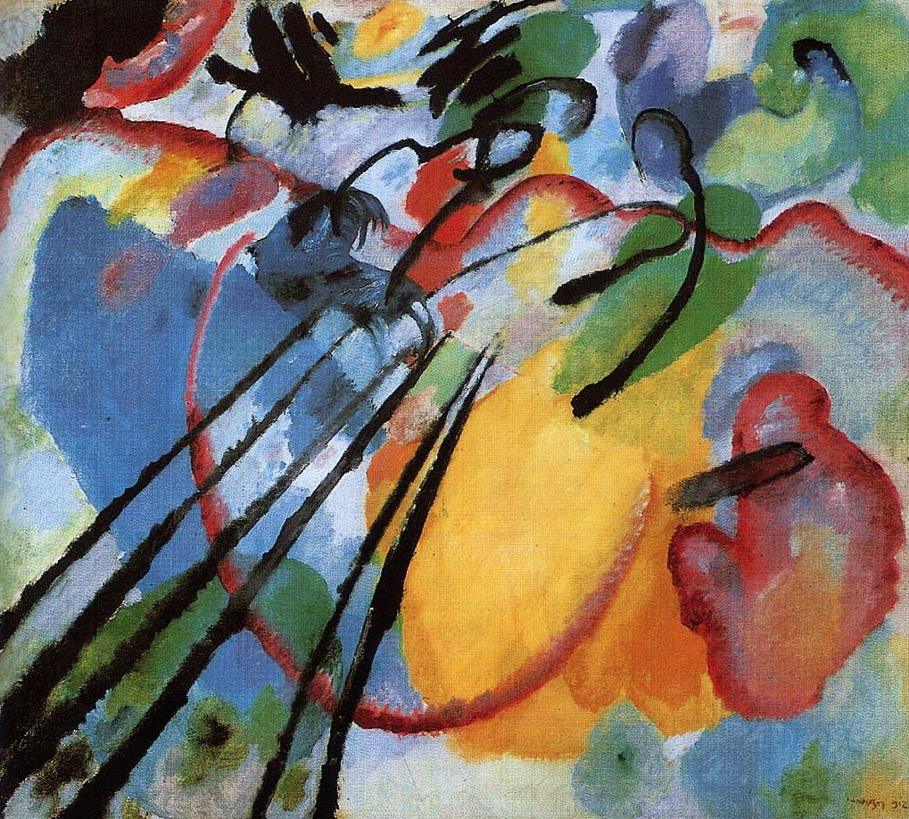 Kandinsky. Improvisation no.26, rowing
