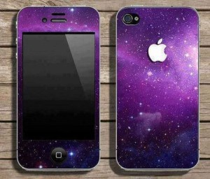 Iphone in black and purple