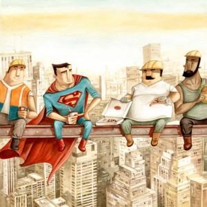 ¿Y tú, Superman, cuántas lenguas dominas? Ilustración de Daniela Volpari