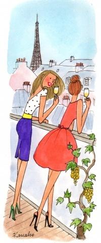 Эти французские модницы точно в курсе всех новых слов ;) Иллюстрация с сайта My Little Paris.