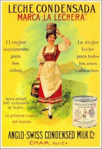La Leche Condensada (сгущеное молоко) La Lechera, que había nacido en Cham (Suiza) en 1866, llegó a España en 1910, momento en que comenzaba la expansión de la fábrica de La Penilla de Cayón (Cantabria), inaugurada cinco años antes, que acogió su producción. Así empezaba una historia que se ha desarrollado al ritmo de los cambios en las necesidades y los hábitos de consumo de los españoles..