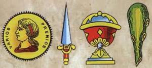 oros, espadas, copas, bastos