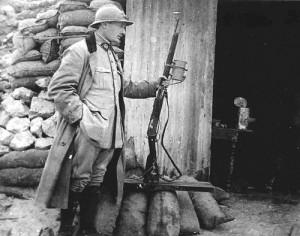 Французский солдат времен Первой Мировой
