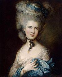 "Thomas Gainsborough - Томас Гейнсоборо. ""Дама в голубом"""
