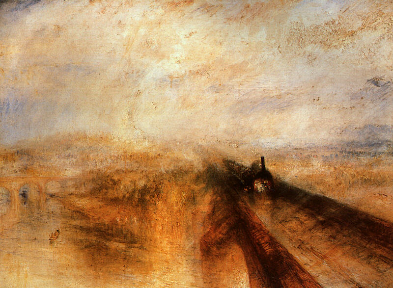 """William Turner - Уильям Тёрнер. """"Дождь, пар и скорость"""""""