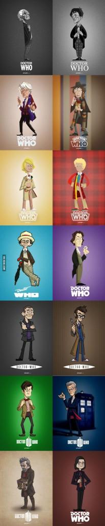 Так как сериал выходит уже не первый год, даже не первое десятилетие, роль доктора исполняли в разных сезонах разные актеры