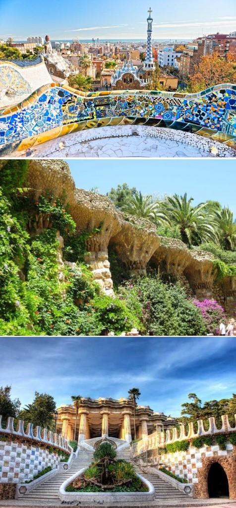 Одно из творений Гауди - поразительно красивый Парк Гуэль находится как раз в районе Грасия