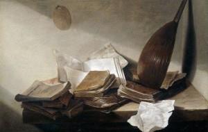 Натюрморт с книгами и лютней, Ян де Хеем
