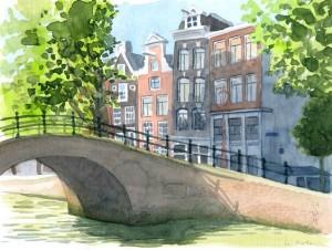 Городской скетч (Амстердам)