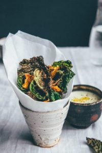Cabbage and sweet potato crisps