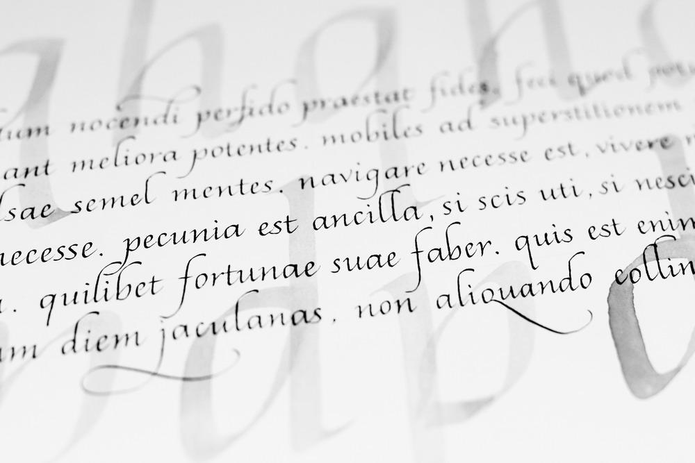 Каллиграфия. Итальянский курсив