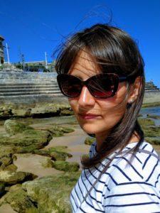 Aqui, em Portugal, uso óculos de sol todos os dias