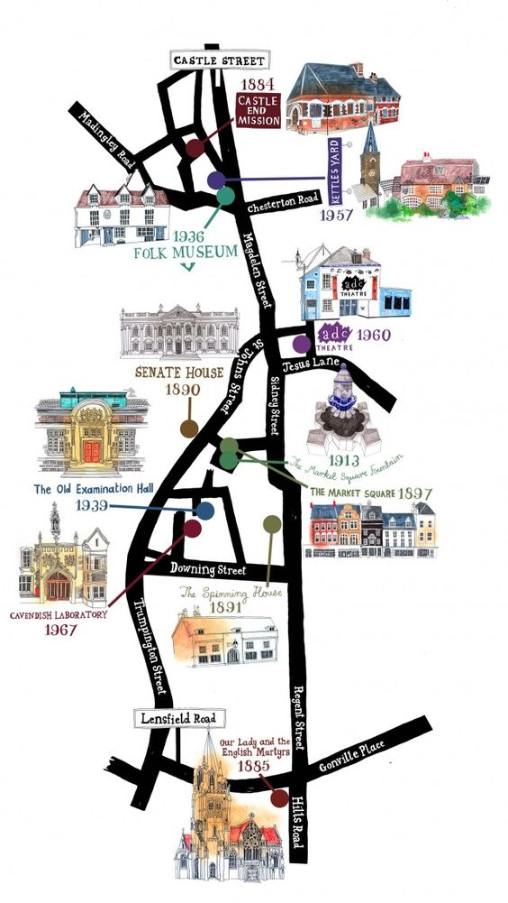 A map of Cambridge